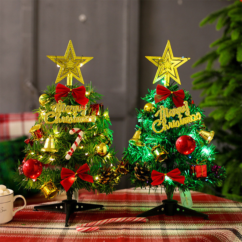 Christmas Tree Small Cute Christmas Tree With Lights Decorations For Home Office Christmas Decorations For The Home Christmas Decorations For The House From Cosmose 12 Dhgate Com