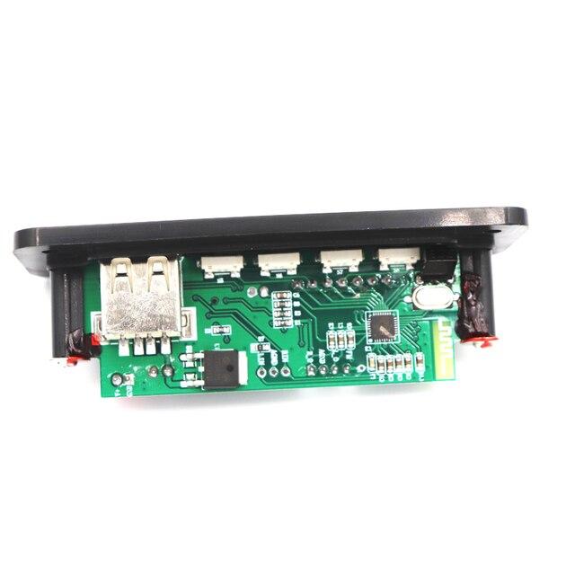 DC 12V Bluetooth 5.0 MP3 WMA Decoder Board Audio Module USB TF FM Radio AUX MP3 Player Handfree For Car Support Recording 4