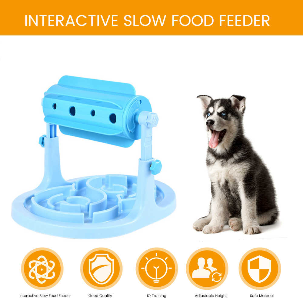 Provides hours of Fun and Exercise Interactive Toy for Dogs Cats Slow Feeder Bowl for Healthy Eating Smart IQ Training for Your Pet Adjustable Treat Dispenser Puzzle Toy Mental Stimulation