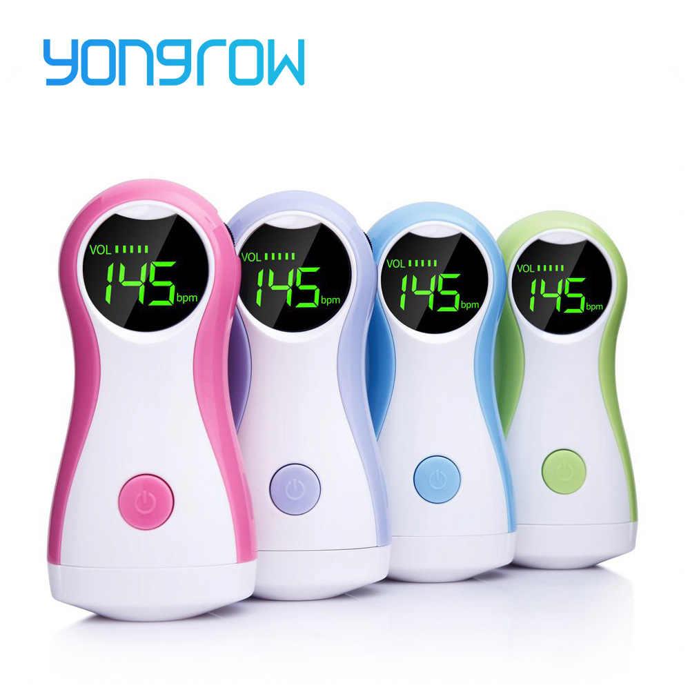 Yongrow Fetal Doppler Baby Monitor LCD Display Portable Bayi Monitor Denyut Jantung Dengan Earphone YK-90C Untuk Wanita Hamil