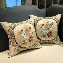 embroidered decorative cushions luxury cushion cover pillow case cover decorative silk cushions for sofas