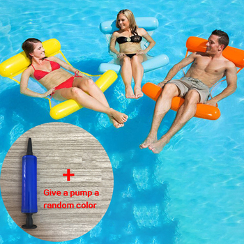 new inflatable Foldable Water hammock recliner inflatable floating bed swimming pool floating swimming mattress swimming ring