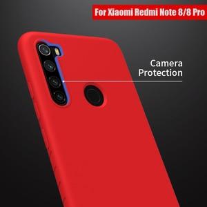 Image 5 - Redmi Note 8 Pro Case Casing NILLKIN Liquid Smooth Silicone Case For Xiaomi Redmi Note 8 Pro Cover Luxury Protective Bags