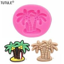 Moule en Silicone moule d'argile avec bordures de palmier Tropical, pour Fondant, résine, chocolat, boucles d'oreilles, moule en résine polymère artisanal