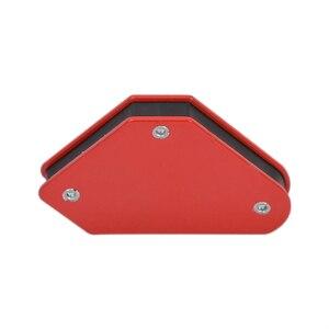 Image 3 - 4 قطعة/الوحدة 4 لحام المغناطيس المغناطيسي حامل مربع السهم المشبك 45 90 135 9LB المشبك المغناطيسي ل أدوات لحام الحديد الكهربائية