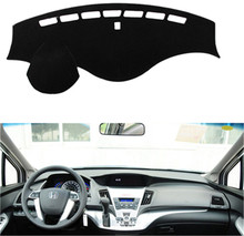 SJ Antislip Auto Inner Auto Dashboard Cover Dashmat Pad Tapijt Zonnescherm Dash Board Cover Fit Voor Honda odyssey 2009-12 2013 2014(China)