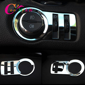 Stainless Steel Car Headlight Lamp Switch Decoration Trim Sticker for Chevrolet Cruze Sedan Hatchback 2009 - 2014 Accessories