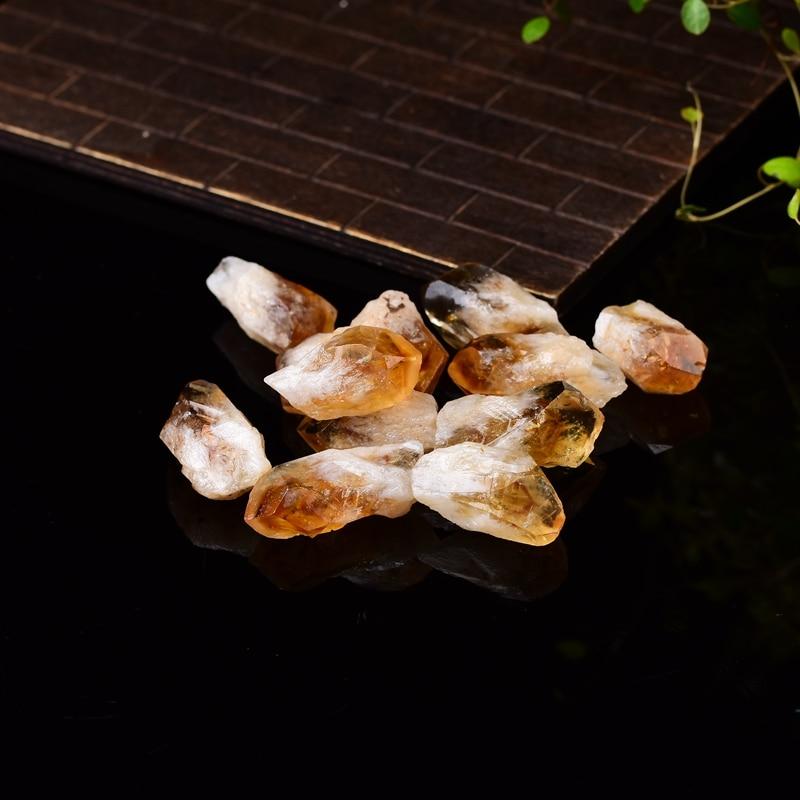 Натуральные цитриновые кристаллы, натуральные кварцевые кристаллы-сырые кристаллы, камень-образец минерала, энергетический лечебный каме...