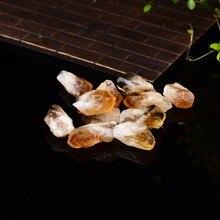 Natural citrino cristal ponto natural quartzo cristais crus rocha mineral espécime energia cura pedra ornamentos decoração para casa