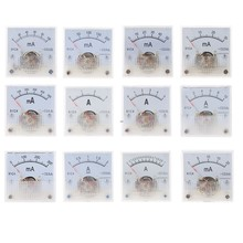 Panel de medición de corriente analógica, amperímetro 91C4 DC, puntero mecánico tipo 1/2/3/5/10/20/30/50/100/200/300/500mA A