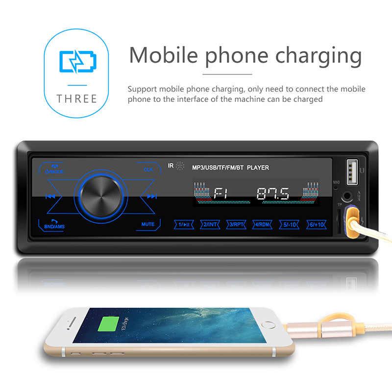 1 Din ラジオタッチスクリーン車のステレオマルチメディアプレーヤーデュアル USB 1din 自動ラジオ Bluetooth ハンズフリー 7 色バックライト Udisk AUX