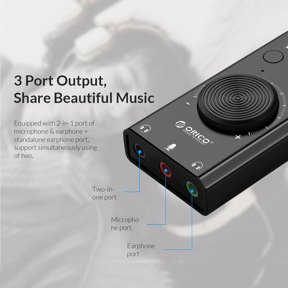 Orico SC2 USB 2.0 External Sound Card 5