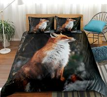 Fox Bedding Set 3D Print Duvet Cover Wild Animal Home Textiles Tribal Bedspread Floral Bed Cover Dropship 3-piece convertible tribal print cover up