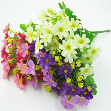 1 Bunch of 28 Head Chrysanthemum Artificial Flower Bouquet Home Office Decoration silk Daisy Decoration Wedding Indoor and Outdo