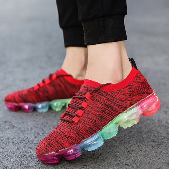 Large Size Sneakers Men Korean Shoe Men's Casual Breathable Running Shoes 2019 Spring/autumn New Flying Woven Sport Shoe Men