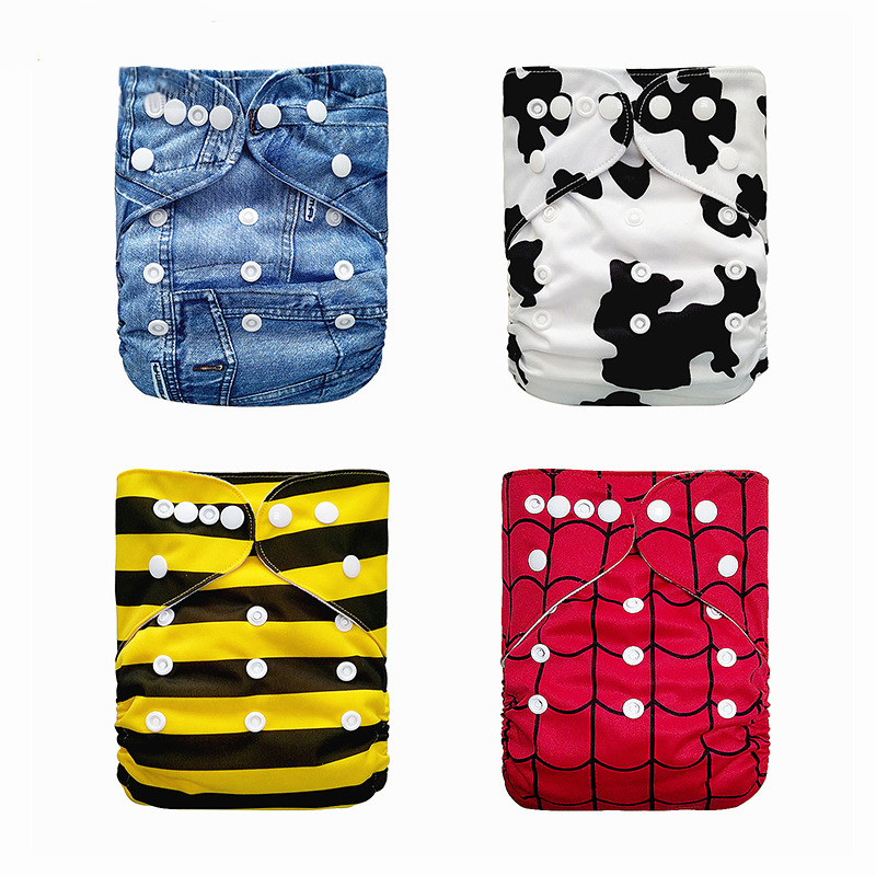 Baby Washable Reusable Real Cloth Pocket Nappy Diaper Cover Wrap Suits Birth To Potty One Size Nappy Inserts