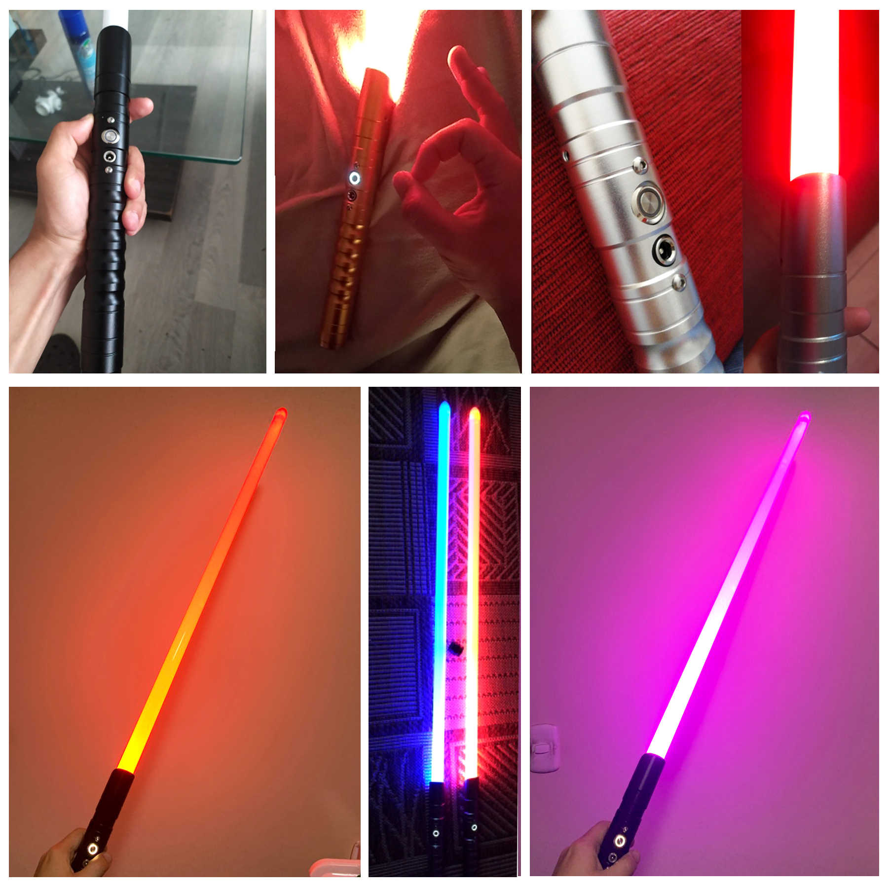 Baru 11 Warna Lightsaber Pedang Logam RGB Laser 2019 Cosplay Anak Seperti Mainan Berkedip Anak-anak Hadiah Lampu Outdoor Kreatif Perang mainan