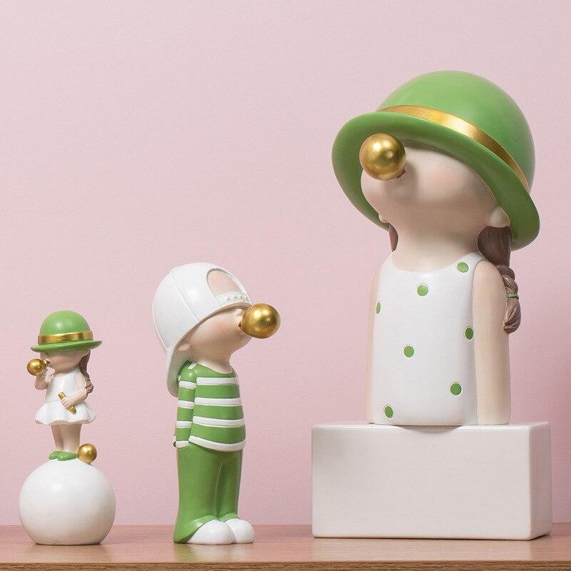 ARTLOVIN статуэтки в скандинавском стиле, Детская модель, статуя из пузырчатой резинки для украшения гостиной, Современное украшение для дома
