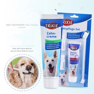 Pet Supplies Dog Toothpaste Toothbrush Set Beef Flavor Mint Flavor Pet Toothpaste Oral Cleaning Tooth Stain To Dental Stones