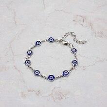 Fashion Evil Eye Beads Bracelets For Women Girls Adjustable Gold Silver Chain Lucky Eye Pendant Bracelets Trendy Jewelry Gift