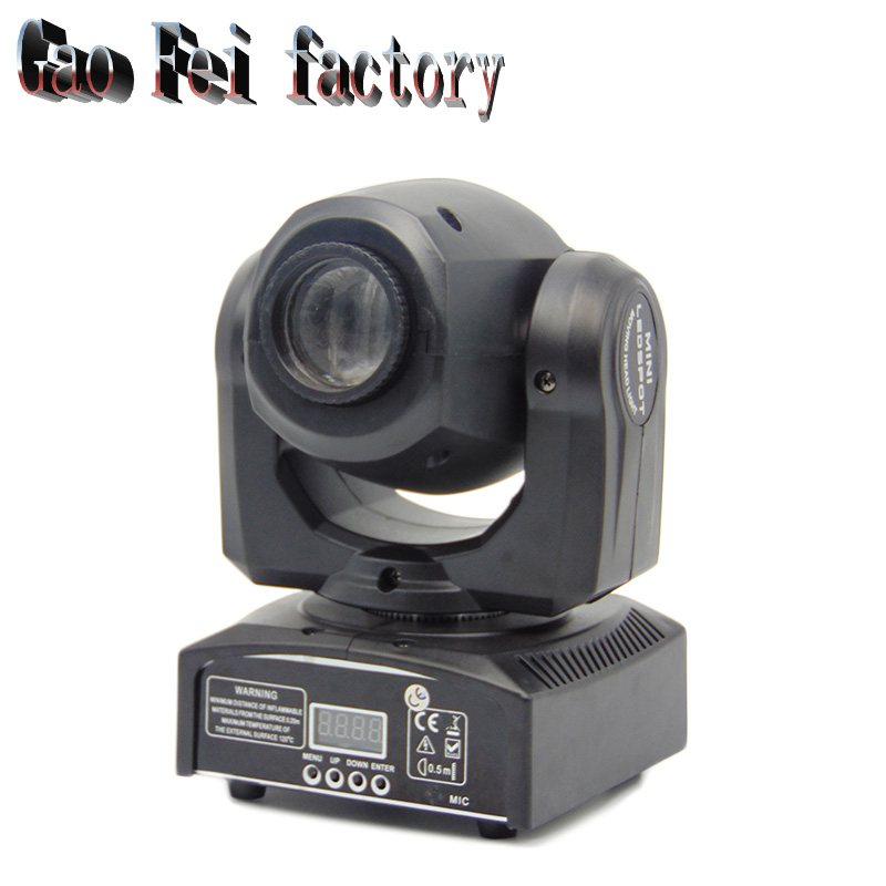 Party Disco DJ Lights 30W Moving Head Led Spot With 8 Colors And 8 Gobos Dmx Mini Gobo Projector Spot Led Moving Head