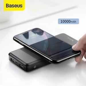 Image 1 - Baseus 10000mah Power Bank Drahtlose Ladegerät Schnelle Lade für iPhone Samsung Huawei Xiaomi Dual USB Lade Externe Batterie Pack