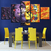 5 Panel Movie Naruto Framework Art Pictures Modular Painting Printed Canvas Wall Poster Home Decoration HD Modern Living Room(China)