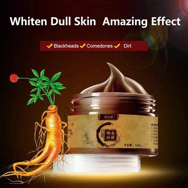 Herbal Peel-off Mask Transitional Herbal Ginseng Black Head Peel Off Face-pack Clean Pores Blackheads Beauty Facial Face Care