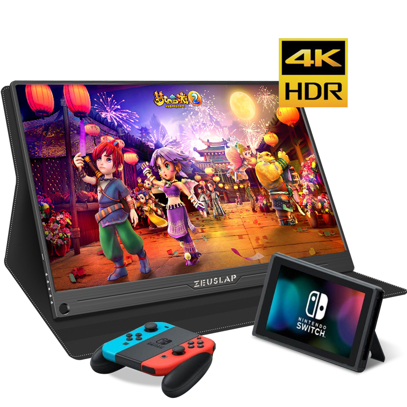 15.6 inch HD 4K IPS Portable gaming Screen monitor PC 3840X2160 for PS3 PS4 Macbook 13.3 12.5 LCD USB C HDMI Computer monitor image