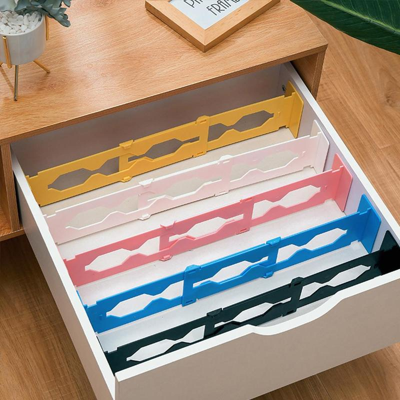 5 Colors Adjustable Drawer Dividers Organiser Retractable Stretch Storage Partition Board Retractable Storage Finishing Drawer
