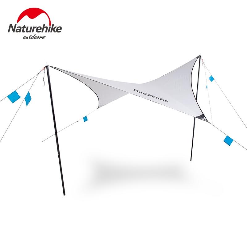 Naturel randonnée abri solaire sans fil extérieur diamant forme auvents Portable ultraléger 15D Oxford tissu randonnée Camping NH19TM003