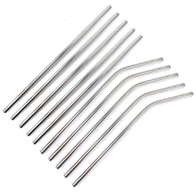 Reusable Brush Cleaner Metal-Straw Drinking-Straw 304-Stainless-Steel with for Mugs 20/30oz
