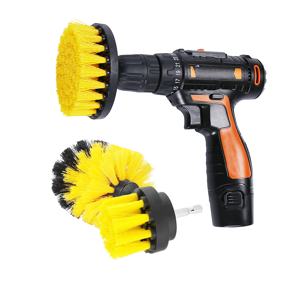 3pcs/set Power Scrubber Brush Car Wheel Brushes Drill Brush for Bathroom Tub Shower Tile Rims Washing Cleaning Tool