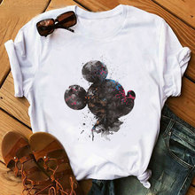 VOGUE Cute Watercolor art Mouse Women Cartoon T Shirt Summer Harajuku Short Sleeve Graphic