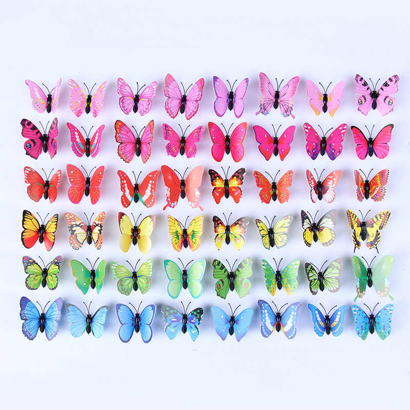 Pvc simulation butterfly creative crafts magnetic refrigerator curtain decoration butterfly butterfly