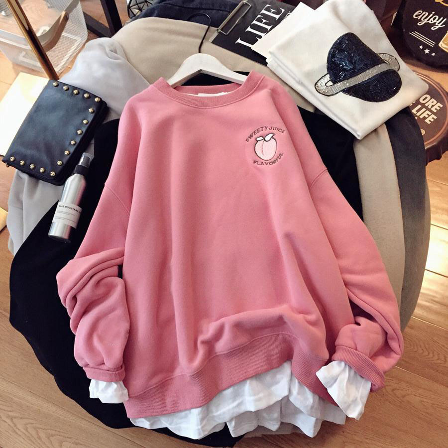 Autumn and winter Hoodies For Women Korean style thickened Sweatshirrt Female Warm keeping Large Oversized  kawaii Clothing