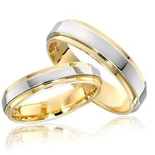 4mm/ 6mm Classic Wedding Ring for Men Women 316L Stainless Steel Groove Ring Gold Silver color Jewelry Drop shipping US size shiying jz014 men s stylish 316l stainless steel ring silver