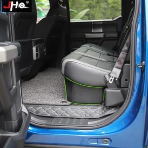 Image 4 - JHO organizador de almacenamiento de 4 puertas, caja de almacenamiento interior de parte trasera para Ford F150 Raptor 2017