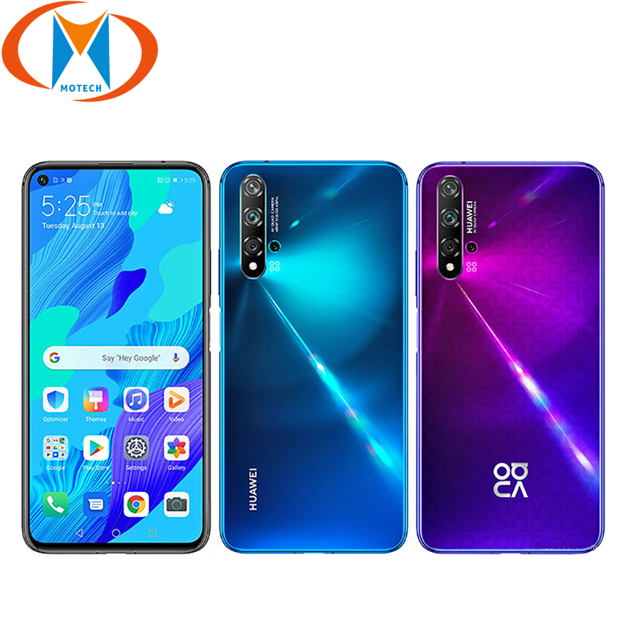 "Global Version Huawei Nova 5T YAL-L21 8GB 128GB Mobile Phone Quad Camera 48MP 6.26"" 3750mAh Dual SIM NFC Android 4G SmartPhone"