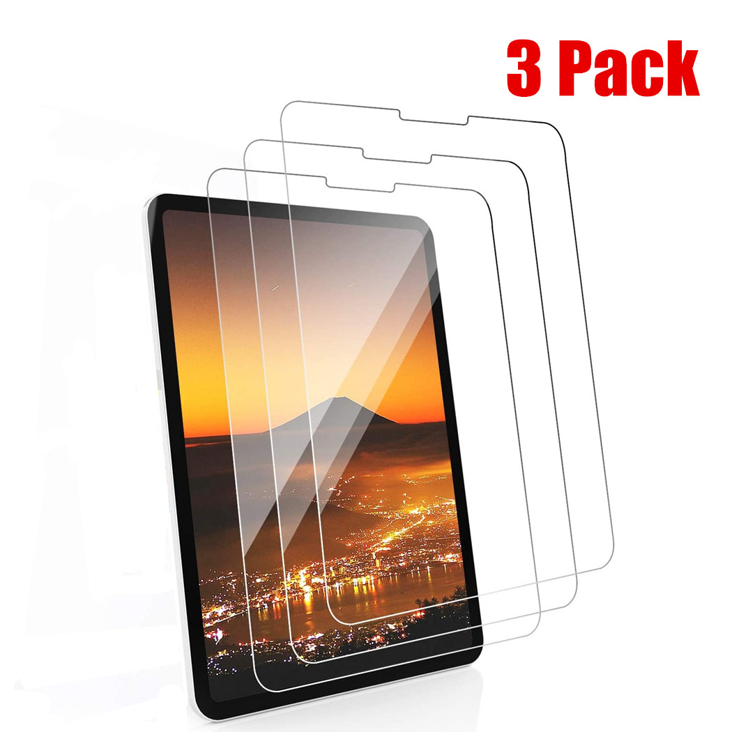 3piece Tempered Glass Film For iPad Pro 11 Screen Protector For iPad 10.2 2019 Air 4
