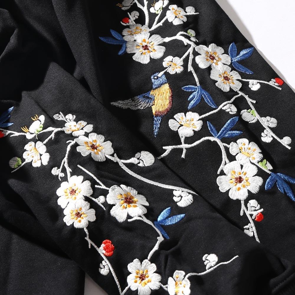 Mens Hip Hop Hoodie Sweatshirt Embroidery Sakura Japanese Streetwear Harajuku Hoodies Pullover 2019 Autumn Sweat Shirts Cotton