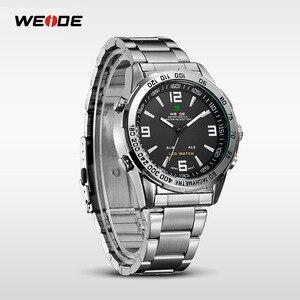 Image 5 - WEIDE 2019 גברים של עסקים מקרית שעונים יוקרה מותג קוורץ LED תנועה דיגיטלית שעון יד שעון צבאי Relogio Masculino