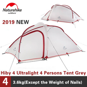 Image 2 - Naturehike Tent Hiby Series Camping Tent 3 4 Persons Outdoor 20D Silicone Fabric Double layer 4 Season Ultralight Family Tent