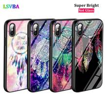 Black Cover Dream Catcher for iPhone X XR XS Max for iPhone 8 7 6 6S Plus 5S 5 SE Super Bright Glossy Phone Case embossed tpu back case for iphone se 5s 5 dream catcher