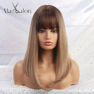 Blonde Wigs Bangs False-Hair-Wigs Afro Cosplay Brown Black Natural Synthetic Alan Eaton