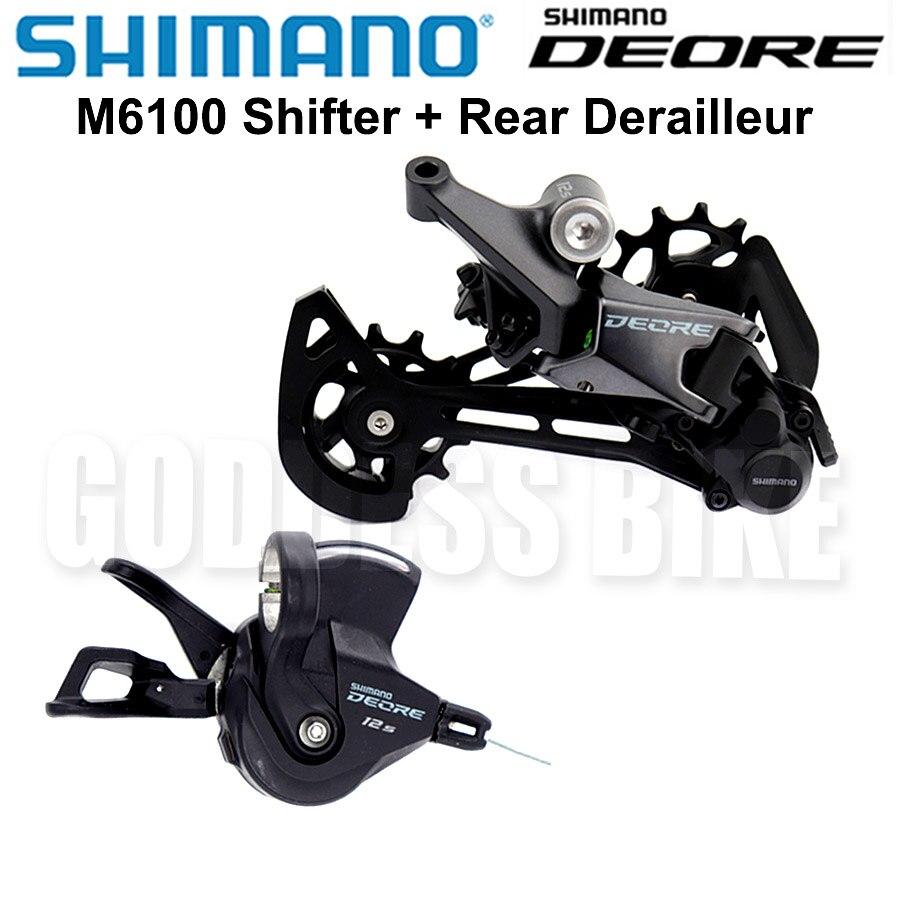 Переключатель передач SHIMANO DEORE M6100, задний переключатель передач для горного велосипеда Groupset 1x12-Speed M6100
