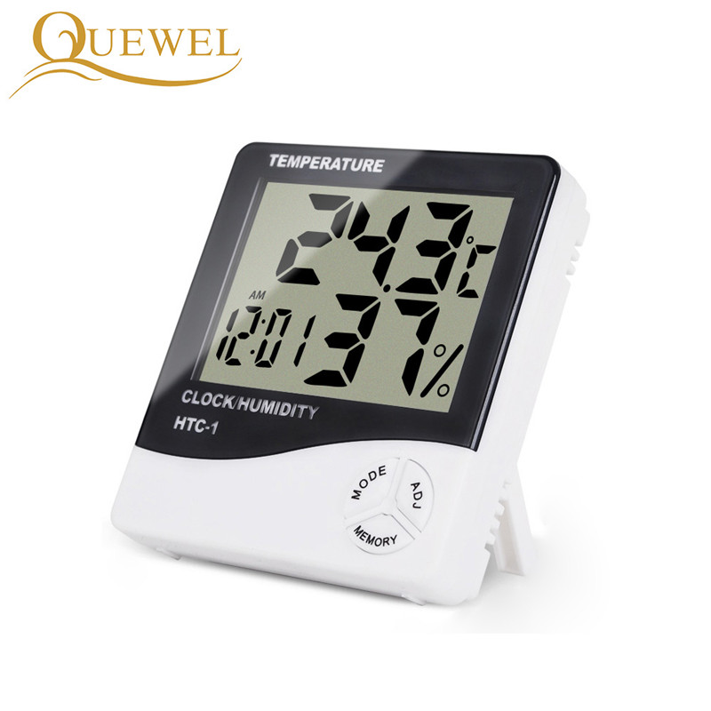 Eyelash Digital Thermometer Hygrometer Eyelash Extension Electronic LCD Temperature Humidity Lashes Meter Weather Station Clock