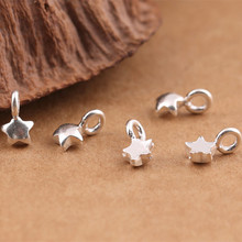Silver 925 Jewelry Antique Thailand Mini Star Pendant Popular Accessories Boutique WTL029
