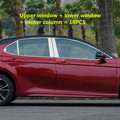 Автомобильная оконная Опора декоративная яркая полоса для Toyota Camry 2018 8th XV70 аксессуары для стайлинга из нержавеющей стали