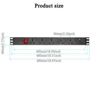 Image 5 - อุตสาหกรรมPDU Power Distribution Unitซ็อกเก็ตป้องกันการโอเวอร์โหลดPower Strip 6AC Universal Outlet Extension Socket 1.5/2.5M